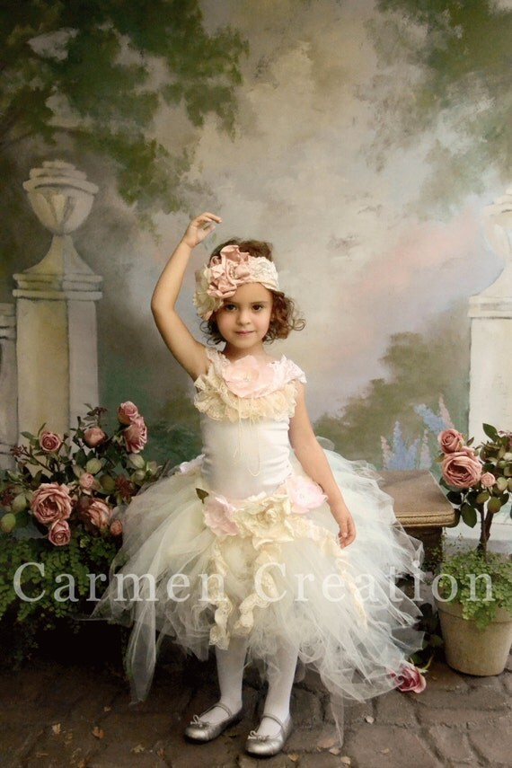 Items similar to Couture Fairy Dress - Couture Flower Girl Dress ...