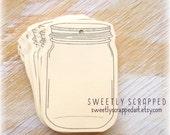 Mason Jar Tags, Labels, Gift Tag, Packaging
