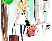 fashion illustration, art print, new york fashion print, fashion illustration fashion art, ink drawing, wall art