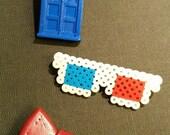 3D Glasses Pixel Pin
