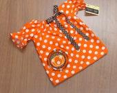 Orange Polka Dot Cutest Pumpkin in the Patch Thanksgiving Dress Bow Newborn 0-3 3-6 6-9 9-12 Month 12 Month 18 Month 2T 3T 4T 5 6