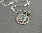 Basketball Mom Personalized Hand Stamped Sterling Silver Necklace