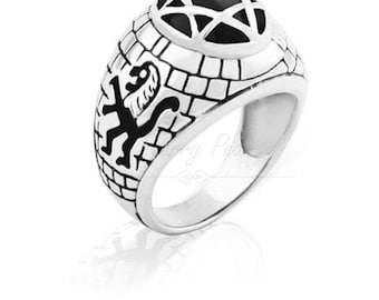 Lion Ring Silver & Stone