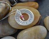 Personalized Necklace Sterling Silver - Grandma, Mothers, Sisters, Best Friends, Daughter - Birthdays , Anniversary, Holiday, Graduation