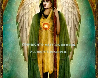 Saint Archangel Raphael Holy Card