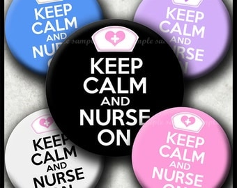 INSTANT DOWNLOAD Keep Calm And Nurse On (590) 4x6 Bottle Cap Images Digital Collage Sheet for bottlecaps hair bows bottlecap images