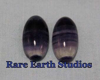 Natural Purple Fluorite Cabochons 10x20 60215090