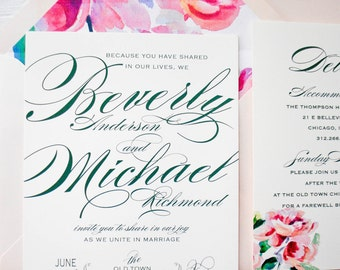 Beverly Wedding Invitation Collection Suite