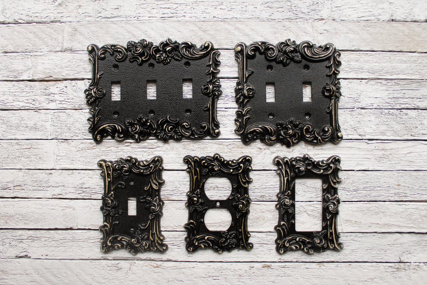 Light Switch Cover In Victorian Black Switch Cover