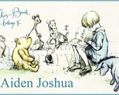 Story time in the 100 aker Woods - Pooh Bear - silly Ol' bear -Adhesive Personalized Bookplate - Baby Shower Gift