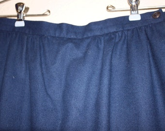 Vintage Wool Skirt  - Pendleton Blue Wool Skirt - Midi  Wool Skirt - Size 10 Petite