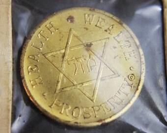 Vintage Mazal Coin - United States - Franklin D. Roosevelt Bronze Medallion Coin - Rare Vintage Coin