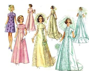 Vintage 1960s Wedding Gown Pattern Uncut Bust 36 Size 14 Simplicity 8091