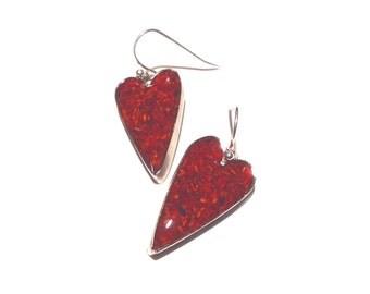 Lobster Shell Earrings- Small Hearts