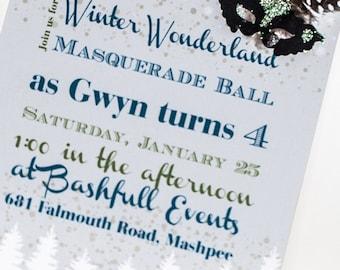 Winter- Masquerade Ball Invitation