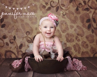 Gorgeous Pink Lace Cheetah Headband - Baby Girl Toddler Child Headband - Great Photo Prop
