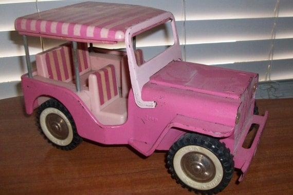final sale rare vintage original tonka pink jeep surrey no 350 elvis 1960s vgc usa mn w. Black Bedroom Furniture Sets. Home Design Ideas
