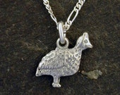 Sterling Silver Quail Pendant on a Sterling Silver Chain
