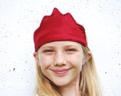 Eco Friendly Crown - Dress Up  - Red - Hemp Silk - Toy - Imaginative Play - Costume - King - Queen - Princess