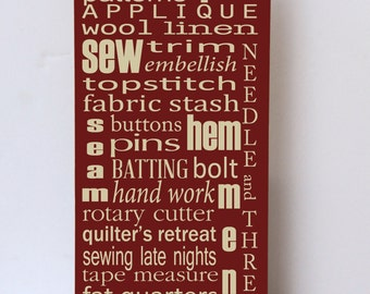 Wood Sign, Art for Sewing Room, Wall Decor Sewing Room, Gift for Her, Sewing, Quilting, Wood Sign for Sewing Room, Quilter Gift,