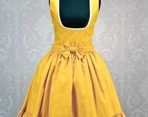 "Made to Order Disney inspired ""Belle"" under bust Lolita Dress."