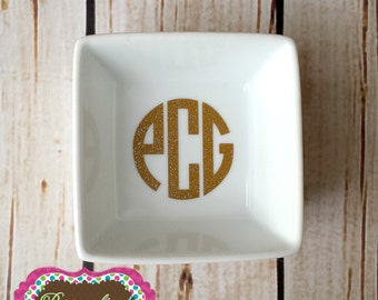 Monogrammed Ring Dish **PERFECT Bridesmaids gift**