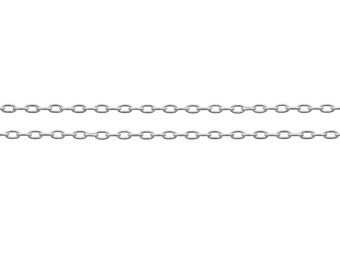 Sterling Silver 1.8x1.1mm Drawn Cable Chain - 20ft Strong and Shiny Made in USA 20% discounted  wholesale quantity (6578-20)/1