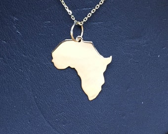 "Africa 3/4"" 10K Solid Gold."