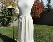 Flirty, Lacey White on White Underskirt Slip Upcycled Altered Couture