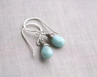 Sky Blue Amazonite Earrings