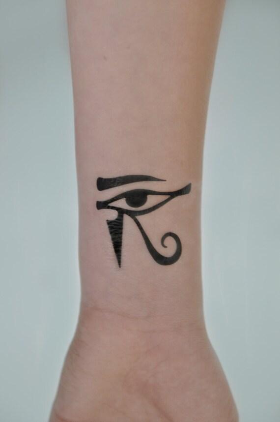 Eye of horus tatouage temporaire mauvais il petit tatouage - Oeil d horus tatouage ...