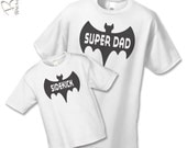 Super Dad and Sidekick Shirt  - Superhero Father Son Gift Set (2 shirts) - Matching Dad  and Baby Shirts