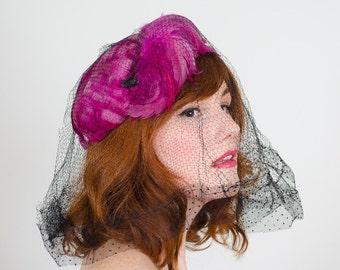 1940s vintage hat / tilt hat / Bold Move