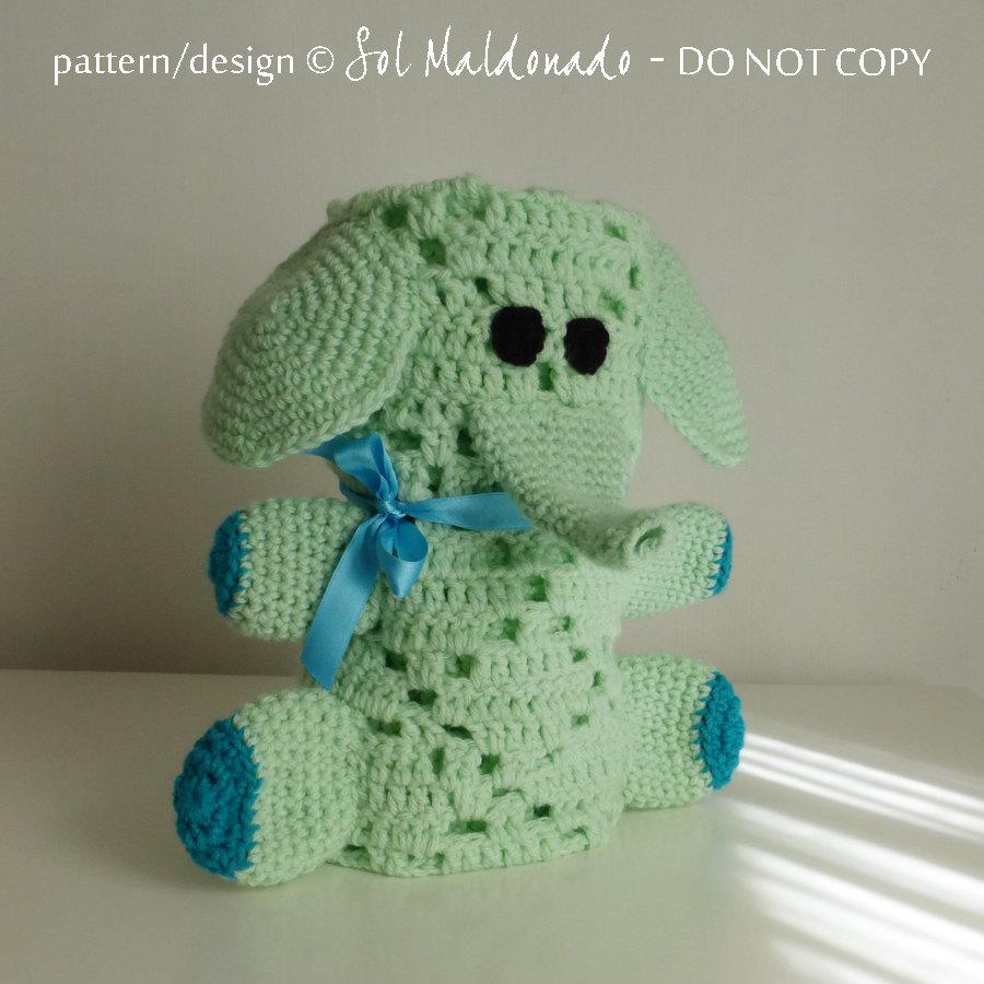 Crochet Elephant Blanket : baby blanket elephant pdf crochet pattern Elephant by bySol