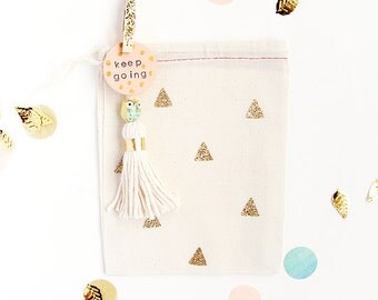 Gold and Silver Glitter Triangle Geometric Favor/Gift Cloth Bags - Available in Three sizes Small/Medium/Large