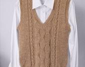 Knit Vest, Aran Sweater, Cable Knit Vest, Knitted Vest, Hand Knit Sweater, Sweater Vest, Cable Sweater, Unisex Vest, Women's Vest