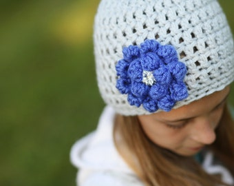 Warm Presents - Super Cute Kids Hat - Crochet Hat for Kids - Newborn Hat for Girls - Light Gray