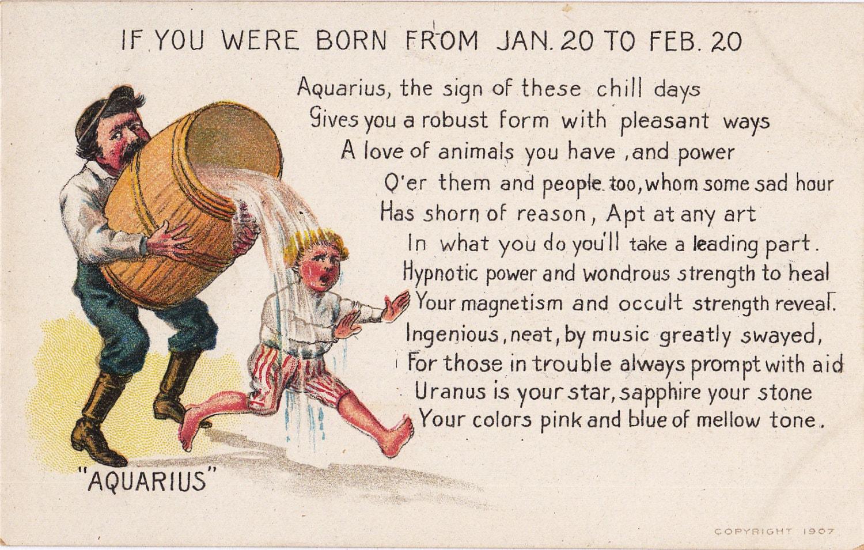Aquarius zodiac astrological sign january 20 to by ephemeraobscura