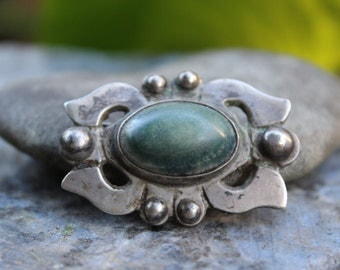 Turquoise Brooch Native American Vintage