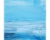 Running water VIII - acrylic & mixed media, painting (in mount)