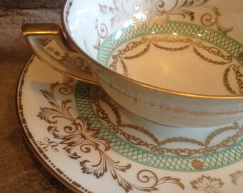 Antique Cream Soup Bowl Set Royal Bayreuth Bavaria 1794 - #3742