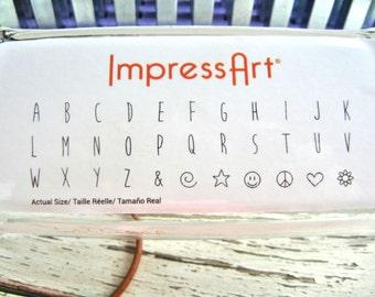 NEW Font - LOLLIPOP UPPERCASE 4mm Font Set - Steel Letter Set- Hand Stamped Jewelry- ImpressArt - Jewelry Stamping diy set
