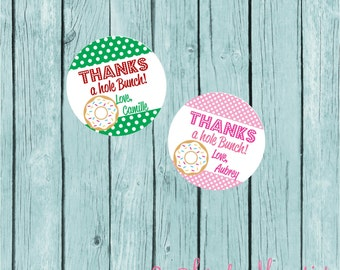 Donut Party Favor Tags/Stickers