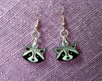 Racoon earrings