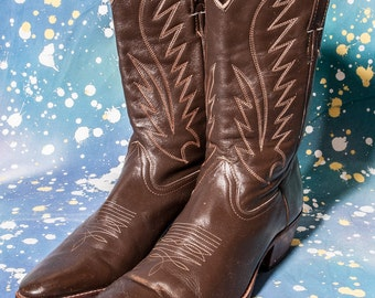 Men's Brown COWBOY Boots Size 12
