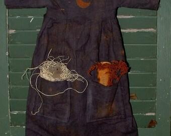 Primitive Halloween Witch Dress Wall Decoration