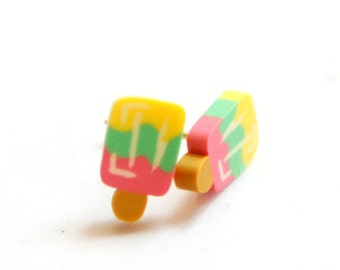 Delicious Miniature Candy Ice Pop Post Earrings