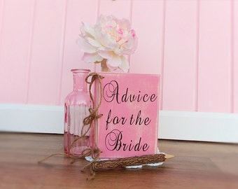 Bridal Shower Advice For The Bride Book Country Wedding Guest Book Wood Cover Book Distressed Chic Wedding Planner Book