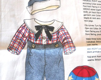 Raggedy Andy's Classic Outfit - Sewing Fabric Panel
