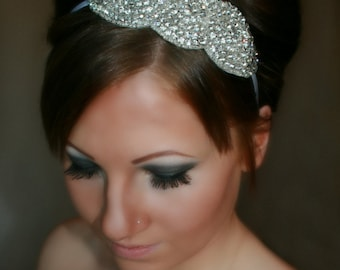 Bridal Headband, Wedding Headband, ARIA, rhinestone headband, bridal hair piece, bridal accessory